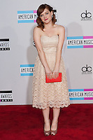 11/20/11 Los Angeles, CA: Jane Levy during the arrivals at the 2011 American Music Awards held at the Nokia Theatre.