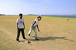Playing Cricket in Polonnaruwa