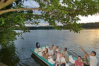 Jungle canal tour in Tortuguero, Costa Rica, Central America.