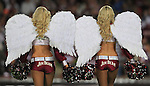 "The Manly Warringah Sea Eagles membership campaign this season is ""Earn Your Wings"". The club bought big wings for the Cheerleaders The Seabirds  to tie in with the campaign for 2012.   Monday 19th March 2012. Photo: (Steve Christo)"