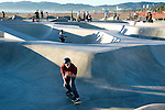 Skate board park at Venice Beach, CA