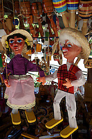 Mexican wooden puppets for sale in Merida, Yucatan, Mexico