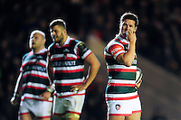 Freddie Burns of Leicester Tigers looks on during a break in play. European Rugby Champions Cup match, between Leicester Tigers and Racing 92 on October 23, 2016 at Welford Road in Leicester, England. Photo by: Patrick Khachfe / JMP