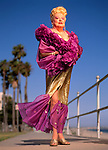 Legendary Burlesque dancer Flame O'Neil (Barbara Bliss) photgraphed in  Long Beach, California on September 17, 1994