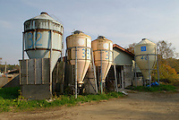 """A biogas plant in Kuzumaki. The plant extracts methane from manure then burns it to produce electricity. Kuzumaki in Northern Japan bills itself as a town of """"Milk, wine and clean energy"""". The 8000 population town has little local industry so Kuzumaki invited Japanese companies to set up wind, solar and biogas generating plants."""