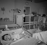Gomel, Belarus, Ocober 1995..The explosion at the Chernobyl Nuclear Power Plant on April 26 1986 was the worst nuclear accident in history..Children abandoned to an orphanage because of suspected radiation sickness.