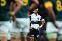 Richard Mo'Unga of the Barbarians looks on during a break in play. Killik Cup International match, between the Barbarians and South Africa on November 5, 2016 at Wembley Stadium in London, England. Photo by: Patrick Khachfe / JMP