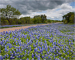 This Texas highway in the hill country is often lined with bluebonnets and other Texas wildflowers in the spring.