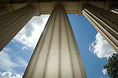 Columns at Angell Hall. 6/24/08
