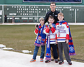 Sean Patno (UML - Head Equipment Manager) and sons - The Northeastern University Huskies defeated the University of Massachusetts Lowell River Hawks 4-1 (EN) on Saturday, January 11, 2014, at Fenway Park in Boston, Massachusetts.