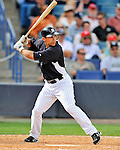 5 March 2011: New York Yankees' infielder Kevin Russo in action during a Spring Training game against the Washington Nationals at George M. Steinbrenner Field in Tampa, Florida. The Nationals defeated the Yankees 10-8 in Grapefruit League action. Mandatory Credit: Ed Wolfstein Photo