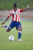 FULLERTON, California - June 26, 2012: Chivas USA  defeated the Charlotte Eagles 2-1 during an 2012 US Open Cup Quarter final game at Titan stadium.