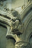 Gargoyle of Woman and Dog in Beverly Minster Church