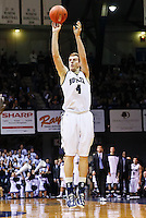 INDIANAPOLIS, IN - JANUARY 26: Erik Fromm #4 of the Butler Bulldogs shoots a jump shot against the Temple Owls at Hinkle Fieldhouse on January 26, 2013 in Indianapolis, Indiana. (Photo by Michael Hickey/Getty Images) *** Local Caption *** Erik Fromm
