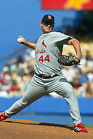 Jason Isringhausen In a MLB game played at Dodger Stadium where the St. Louis Cardinals beat the Los Angeles Dodgers 3-1
