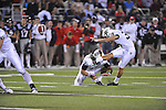 Vanderbilt kicker Carey Spear (39)makes a field goal as time expires at the end of the first half at Vaught-Hemingway Stadium in Oxford, Miss. on Saturday, November 10, 2012. (AP Photo/Oxford Eagle, Bruce Newman)