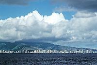 Honolulu: Waikiki--view from ship. Photo '82.