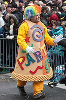 NEW YORK - NOVEMBER 25:  A clown performs in the annual Macy's Thanksgiving Day Parade  on Thursday, November 25, 2010.
