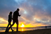 Santa Monica beach amid the sunset on Saturday, March 30, 2013...
