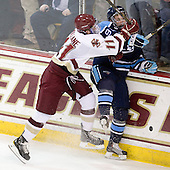 Pat Mullane (BC - 11), Klas Leidermark (Maine - 91) - The Boston College Eagles defeated the visiting University of Maine Black Bears 4-1 on Sunday, November 21, 2010, at Conte Forum in Chestnut Hill, Massachusetts.