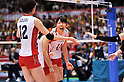 Erika Araki (JPN),.MAY 27, 2012 - Volleyball : FIVB the Women's World Olympic Qualification Tournament for the London Olympics 2012, between Japan 2-3 Serbia at Tokyo Metropolitan Gymnasium, Tokyo, Japan. (Photo by Jun Tsukida/AFLO SPORT) [0003].
