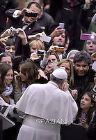 Pope Francis during his weekly general audience at the Paul VI hall at the Vatican, Wednesday. February 4, 2015
