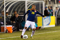 Macnelly Torres (20) of Colombia. Brazil (BRA) and Colombia (COL) played to a 1-1 tie during international friendly at MetLife Stadium in East Rutherford, NJ, on November 14, 2012.