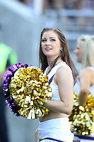 SEP 12, 2015:  University of Washington cheerleader Katherine Grimm vs Sacramento State at Husky Stadium in Seattle, Washington. Washington won over Sacramento State.