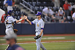LSU's Nick Goody celebrates a win vs. Ole Miss with catcher Ty Ross in Oxford, Miss. on Friday, May 4, 2012. LSU won 4-3 in 13 innings.