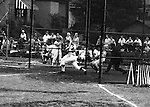 American Legion Baseball:  Bethel Park vs Arnold to advance to the state American Legion Playoffs.  Craig Balmford getting a base hit during the game.  Bob Purkey pitched a shut out (1-0) and the team advance to the state playoffs in Allentown PA - 1970. Jack Snyder on deck