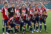 CARSON, CA – June 18, 2011: Chivas USA starting line-up for the match between Chivas USA and FC Dallas at the Home Depot Center in Carson, California. Final score Chivas USA 1, FC Dallas 2.