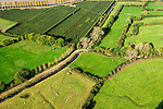 Nederland, Zeeland, Gemeente Borsele, 19-10-2014;  Zak van Zuid-Beveland, omgeving Nisse. Kleinschalig landscap van binnendijken en kleine polders. Meidoorn heggenlandschap en 'oudland'. Waardevol Cultuurlandschap.<br /> Old Polders and ancient hedges in Zealand, Southwest Netherlands.<br /> luchtfoto (toeslag op standard tarieven);<br /> aerial photo (additional fee required);<br /> copyright foto/photo Siebe Swart