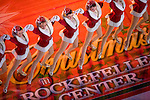 The Rockettes perform prior to the tree lighting ceremony at Rockerfeller Center in New York. Photographer: Robert Caplin For The New York Times