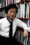 World renowned Japanese architect Kisho Kurokawa poses for a photo at his offices in Tokyo, Japan in January 2006. Kurokawa, who recently unsuccessfully ran for a seat in Japan's parliament, died 12 October 2007 aged 73.