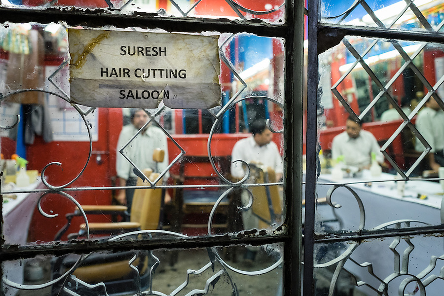 THIMPHU, BHUTAN - CIRCA OCTOBER 2014: Barber shop in Thimpu, Bhutan