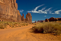 Dusty road at Monument Valley, Arizona