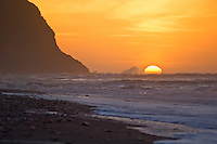 Sunset, Okarito beach, New Zealand