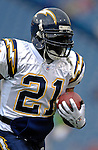3 December 2006: San Diego Chargers running back LaDainian Tomlinson (21) warms up prior to a game against the Buffalo Bills at Ralph Wilson Stadium in Orchard Park, New York. The Charges defeated the Bills 24-21. Mandatory Photo Credit: Ed Wolfstein Photo<br />