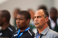Trinidad and Tobago head coach Stephen Hart during a CONCACAF Gold Cup group B match at Red Bull Arena in Harrison, NJ, on July 8, 2013.