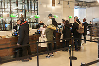 Front end in the new Whole Foods Market opposite Bryant Park in New York on opening day Saturday, January 28, 2017. The store in Midtown Manhattan is the chain's 11th store to open in the city. The store has a large selection of prepared foods from a diverse group of vendors inside the store.  (© Richard B. Levine)