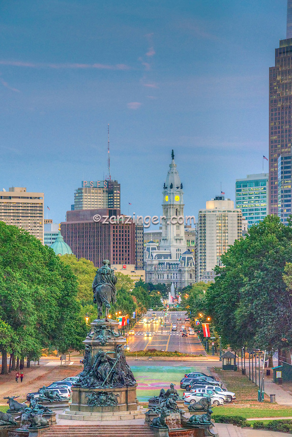 Downtown, Urban, Architecture, Building, Cityscape, Art Museum, Skyline, Philadelphia, PA,  Pennsylvania,  Stock Photos