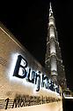 The Burj Khalifa, the world's tallest building at 829.8m at night. Dubai, United Arab Emirates.