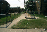 1993 June 21..Assisted Housing.Calvert Square..BEFORE RENOVATIONS.ROLL 4-12.WIDE STREET BETWEEN EAST OLNEY & BAGNALL ROAD .LOOKING EAST...NEG#.NRHA#..