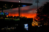 People watch the game on a pub at the USTA Billie Jean King National Center during the US Open 2014 tennis tournament in New York.  08.29.2014. VIEWpress