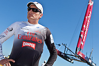 PORTUGAL, Cascais. 7th August 2011. America's Cup World Series. Day 2.  Dean Barker, EMIRATES TEAM NEW ZEALAND.