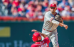 7 September 2014: Philadelphia Phillies infielder Freddy Galvis in action against the Washington Nationals at Nationals Park in Washington, DC. The Phillies fell to the Nationals 3-2 in their final meeting of the season. Mandatory Credit: Ed Wolfstein Photo *** RAW (NEF) Image File Available ***