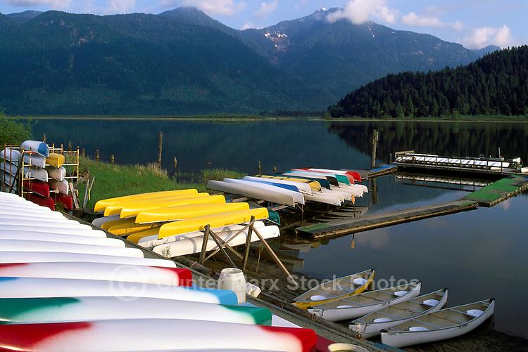 Pitt Lake near Pitt Meadows and Maple Ridge, BC, British Columbia, Canada - Canoe Boat Rental at Grant Narrows Regional Park - Coast Mountains, Fraser Valley