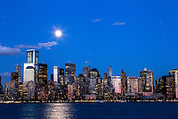 The full moon rises over New York City. March 15, 2014. Photo by Kena Betancur/VIEW