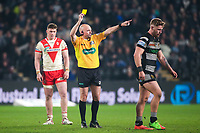 Picture by Alex Whitehead/SWpix.com - 10/03/2017 - Rugby League - Betfred Super League - Hull FC v St Helens - KCOM Stadium, Hull, England - Hull FC's Jansin Turgut is sent to the sin-bin by referee Phil Bentham.