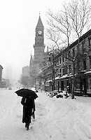 Blizzard of 1996...Greenwich Village, NYC at Sixth Avenue and 11th Street near  Jefferson Market
